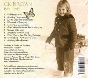 Believe CD back covers